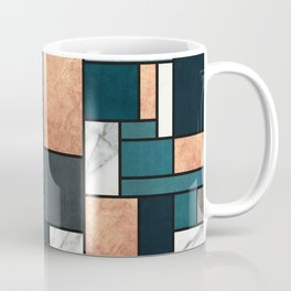 Random Pattern - Copper, Marble, and Blue Concrete Coffee Mug