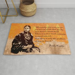 FRIDA KAHLO - the mistress of ARTs - quote Rug