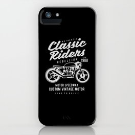 authentic clasic rider iPhone Case