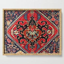 Qashqa'i Antique Fars Persian Bag Face Print Serving Tray