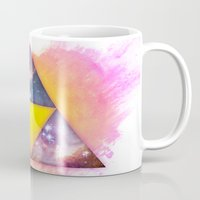 triforce Mugs featuring Cosmic Triforce by Spooky Dooky