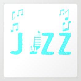 "Simple Music Tee For Musicians ""Make Jazz Not War"" T-shirt Design Musical Mic Microphone Notes Art Print"