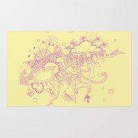 doodle Area & Throw Rugs featuring doodle by Duru Eksioglu