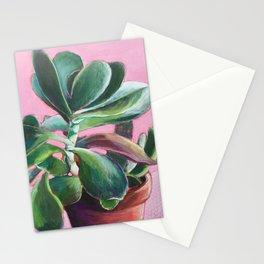 Succulente au mur rose Stationery Cards