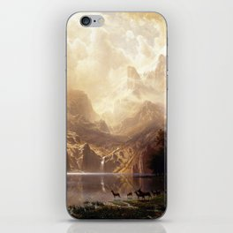 Albert Bierstadt - Among the Sierra Nevada, California iPhone Skin