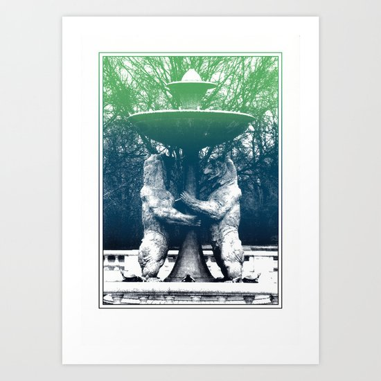 Detroit Zoo Art Print