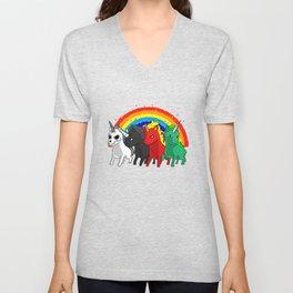 Unicorn Apocalypse Rider Rainbow joke gift Unisex V-Neck