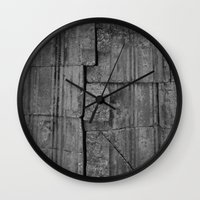 stone Wall Clocks featuring Stone by Claire Elizabeth Stringer
