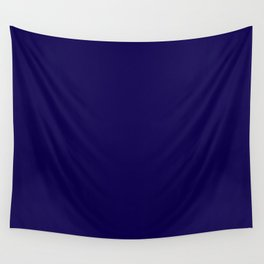 Simply Navy Blue Wall Tapestry