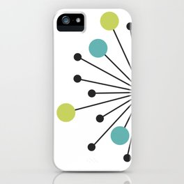 Atomic Age Nuclear Motif — Mid Century Modern iPhone Case