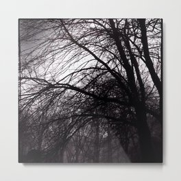 Dark Trees III Metal Print
