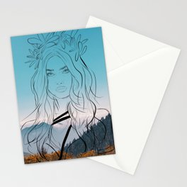 Goddess of the hunt Stationery Cards