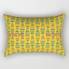Sea for fun (yellow) Rectangular Pillow