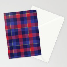 Red and Blue plaid Stationery Cards