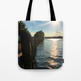 Shimmering Long Dock Park - Beacon NY Tote Bag