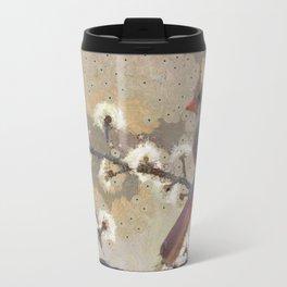 Abstract Colorful Wild Bird Cardinal Painting Travel Mug
