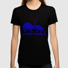 cat love stinks T-shirt