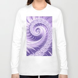 Ultra Violet Luxe Spiral Pattern | Trendy Color of the Year 2018 Long Sleeve T-shirt