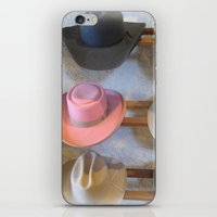 hats iPhone & iPod Skins featuring Hats by Judith Kimber Photography