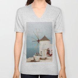 Oia Windmill Unisex V-Neck