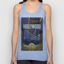 Vintage poster - Hollywood Unisex Tank Top