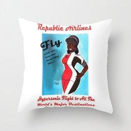 Miriyum of Republic Airlines Throw Pillow
