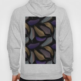 Vintage style pattern with exotic feathers. Hoody