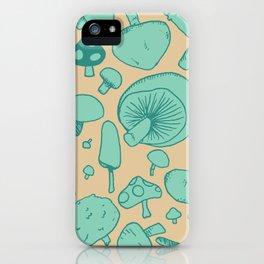 Fungi V2 Vintage Mushroom Pattern iPhone Case