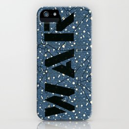 War blue iPhone Case