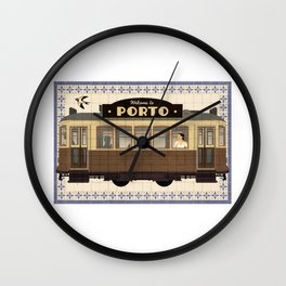 Travel Posters  - Porto Tram Wall Clock