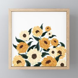 Many Sunflowers Framed Mini Art Print