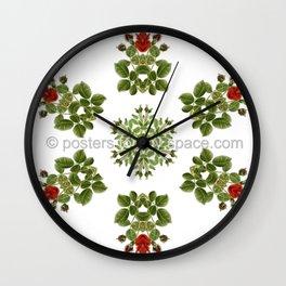 Red Rose hexagon Wall Clock