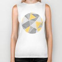 yellow pattern Biker Tanks featuring Pattern, grey - yellow by Lindella