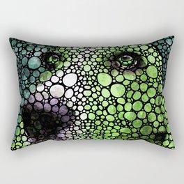 Stone Rock'd Basset Hound Pop Art By Sharon Cummings Rectangular Pillow
