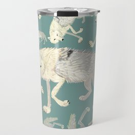 Totem Artic Wolf Turquoise Travel Mug