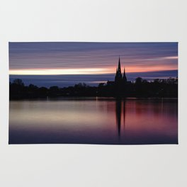Pink Sky Over The Lichfield Cathedral Rug