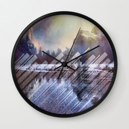 Winter Sun Rays Abstract Nature Wall Clock