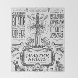 Legend of Zelda Vintage Master Sword Advertisement Throw Blanket