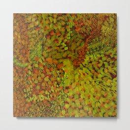 Autumn Field Watercolor Metal Print