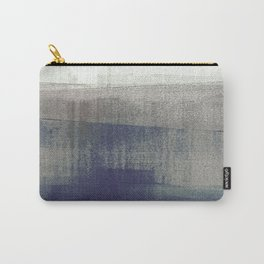 Navy Blue and Grey Minimalist Abstract Landscape Carry-All Pouch