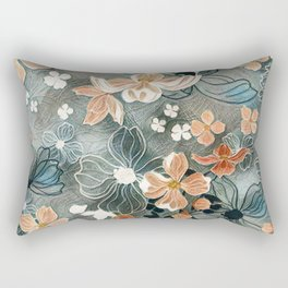 Fading Colors Rectangular Pillow