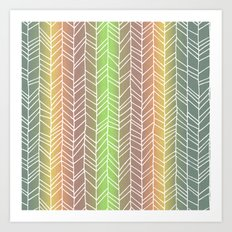 Colorful Rainbow Feather Pattern Art Print