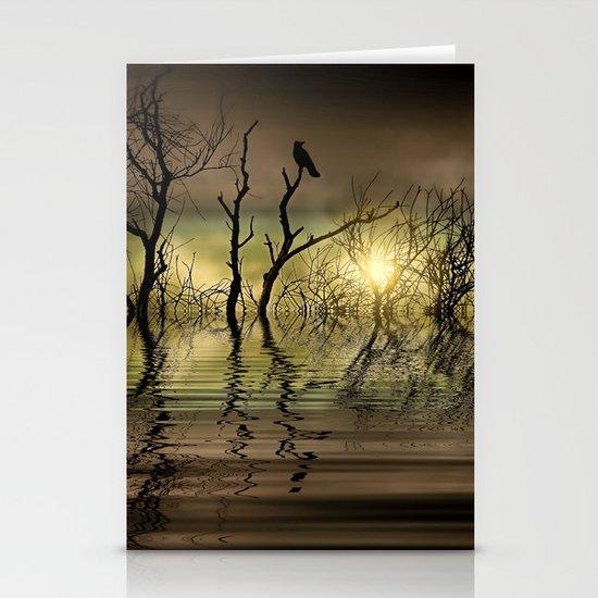 Twilight reflected Stationery Cards