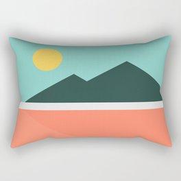Geometric Landscape 16 Rectangular Pillow