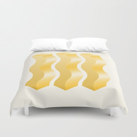 Geometric Vibes: Power  Duvet Cover