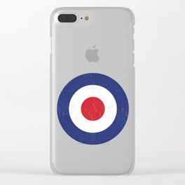 Roundel British War Plane Target Cracked Clear iPhone Case