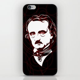 Edgar Allan Poe Circles Portrait iPhone Skin