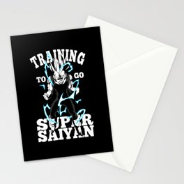 Training to go super saiyan Stationery Cards