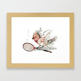 The Wild Badminton Birdie Framed Art Print