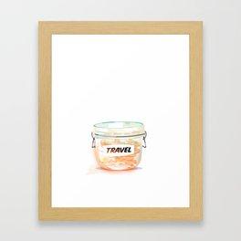 Travel Coin Jar Framed Art Print